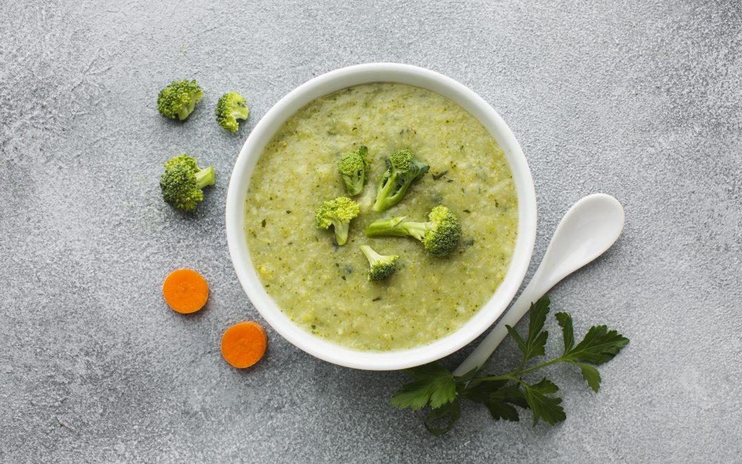 Sopa de brócolos e cenoura