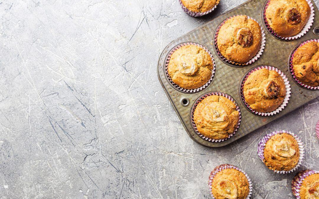 Muffins de banana, laranja e canela